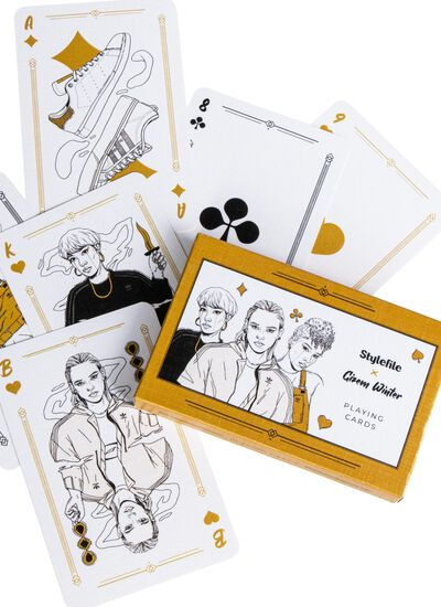 X Gizem Winter Playing Cards