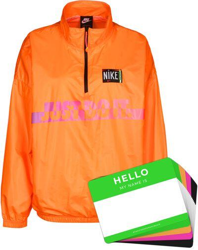 Nike Wash Jacket Woven + HELLO Neon-Stickerpack   Orange Pack
