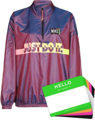 Nike Wash Jacket Woven + HELLO Neon-Stickerpack   Fuchsia Pack