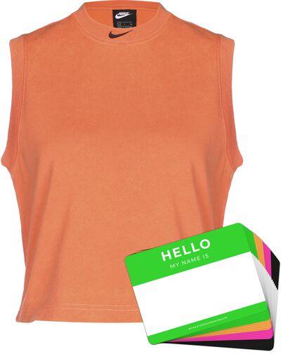 Nike Wash Tanktop + HELLO Neon-Stickerpack | Orange Pack
