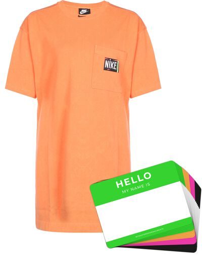 Nike Wash Dress + HELLO Neon-Stickerpack | Orange Pack