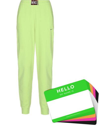 Nike Wash Pants + HELLO Neon-Stickerpack | Green Pack