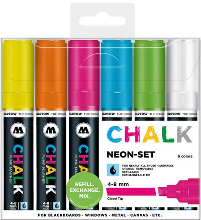 Chalk 4-8 mm Neon Set