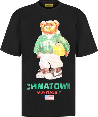 Smiley Sketch Basketball Bear