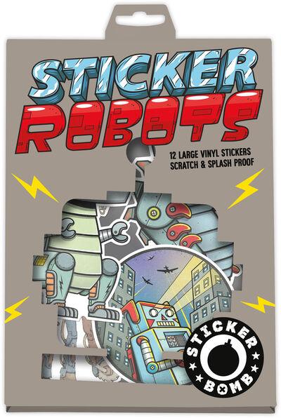 Sticker Bomb Robots 12 pcs