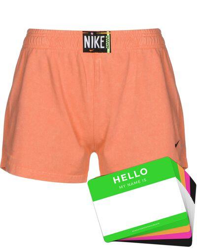 Nike Wash Shorts + HELLO Neon-Stickerpack | Orange Pack