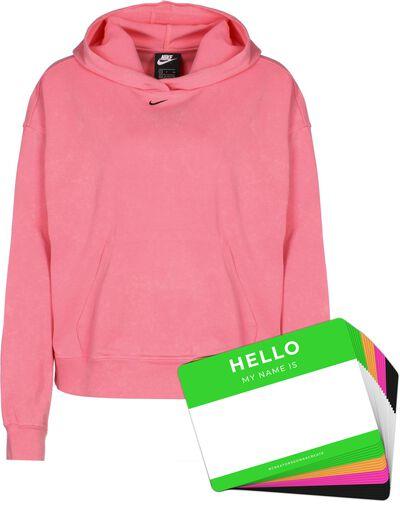Nike Wash Hoodie + HELLO Neon-Stickerpack | Pink Pack