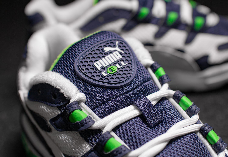 Puma Cell Alien og calcetines cortos zapatillas zapatos blanco amarillo nuevo New 369801-12