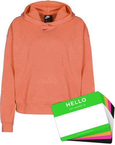 Nike Wash Hoodie + HELLO Neon-Stickerpack | Orange Pack