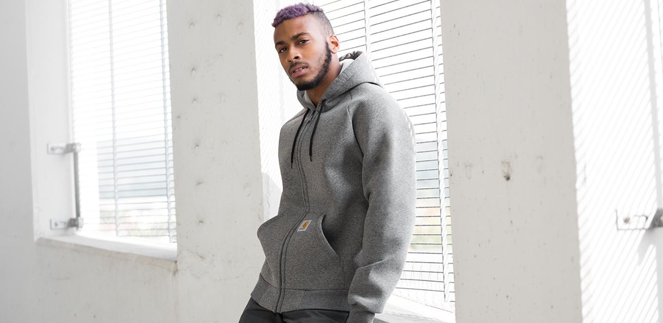 hooded zipper for men